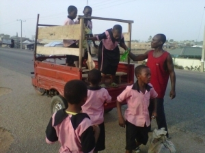 See The Kind Of School Bus Carrying These Pupils To School [See Photo]